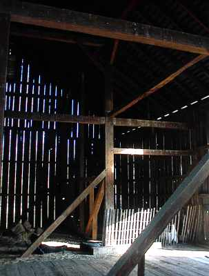 another interior view of this oak barn