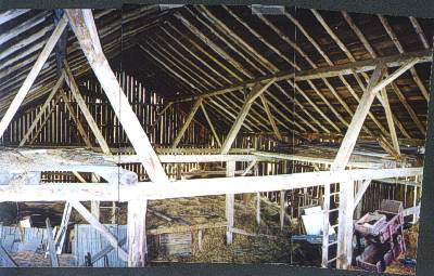 English Threshing Barn from 1860.