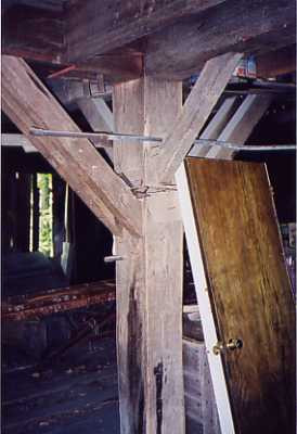structure details, mortice and tenon supports