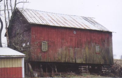 Hand-hewn English Threshing Barn