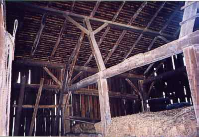 ceiling view of the Hiler Barn