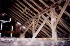 Interior of one story barn.