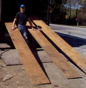 Nice long chestnut boards.